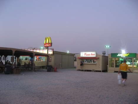 Camp Virginia food court